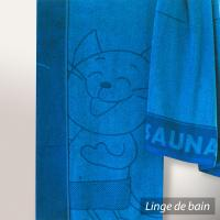 Drap de plage 85x200 cm KATZE Bleu 480 g/m2