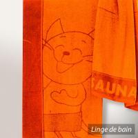 Drap de plage 85x200 cm KATZE Orange 480 g/m2