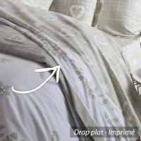 Drap plat 180x290 cm 100% coton CHARME