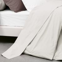 Drap plat uni 180x290 cm 100% coton ALTO Ivoire