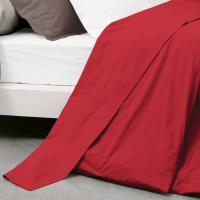 Drap plat uni 240x310 cm 100% coton ALTO Garance