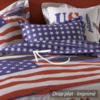 Drap plat 240x310 cm 100% coton USA