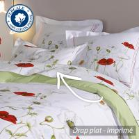 Drap plat 240x310 cm Percale pur coton SEDUCTION