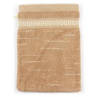 Gant de toilette 16x21 cm FICUS Marron 500 g/m2 pur coton bio