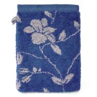Gant de toilette 16x21 cm 100% coton 480 g/m2 FLORAL Bleu