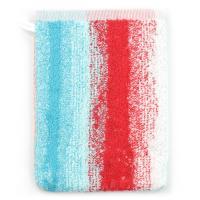Gant de toilette 16x21 cm 100% coton 500 g/m2 KODAC RAYURES Rouge Bleu