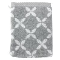 Gant de toilette 16x21 cm SHIBORI floral Gris 500 g/m2