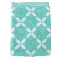 Gant de toilette 16x21 cm SHIBORI floral Vert 500 g/m2