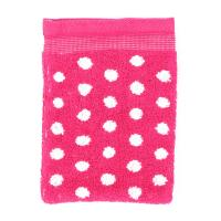 Gant de toilette 16x21 cm GRAPHIC DOTS Rose 550 g/m2