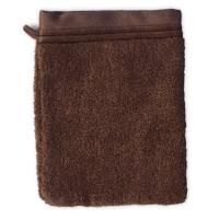 Gant de toilette 16x21 cm JULIET Marron 520 g/m2