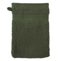 Gant de toilette 16x21 cm ROYAL CRESENT Vert Bouteille 650 g/m2