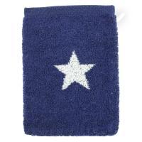 Gant de toilette 16x21 cm 100% coton 480 g/m2 STARS Bleu Marine