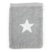 Gant de toilette 16x21 cm 100% coton 480 g/m2 STARS Gris