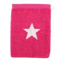 Gant de toilette 16x21 cm 100% coton 480 g/m2 STARS Rose