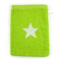 Gant de toilette 16x21 cm 100% coton 480 g/m2 STARS Vert