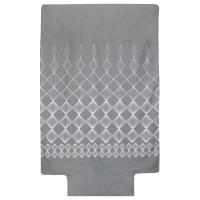 Housse de couette 140x200 cm 100% coton FOREVER GRIS gris foncé