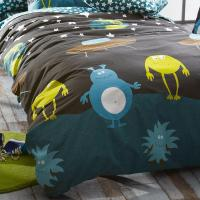 Housse de couette 140x200 cm 100% coton MONSTERS