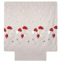 Housse de couette 200x200 cm Percale pur coton CYBELE FLOWERS Ecru