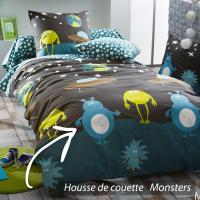 Housse de couette 200x200 cm 100% coton MONSTERS