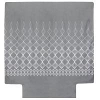Housse de couette 260x240 cm 100% coton FOREVER GRIS gris foncé