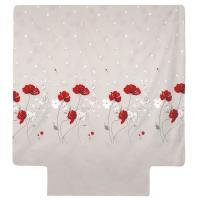 Housse de couette 280x240 cm Percale pur coton CYBELE FLOWERS Ecru