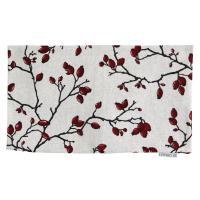 Housse de coussin 30x50 cm CARANO Eglantier rouge et noir - Polycoton