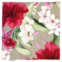 Housse de coussin 45x45 cm CARITA Rose de Chine - Polycoton
