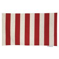 Housse de coussin 30x50 cm TORCELLO Rayures rouges - Polycoton