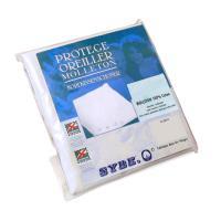 Housse de Protection d'oreiller 60x60 cm 100% coton gratté 2 faces, environ 220g/m² - AUBIN
