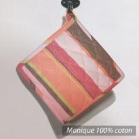 Manique Cocina - Rose, orange, marrons, rayures multicouleurs