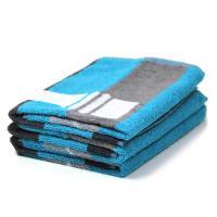Lot de 3 torchons de cuisine 50x50 cm 100% coton 400 g/m2 POIVRE ET SEL - Bleu et Gris