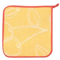 Manique de cuisine 20x20 cm matelassée 100% coton LINE Orange