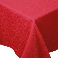 Nappe carrée 150x150 cm Jacquard 100% coton SPIRALE rouge