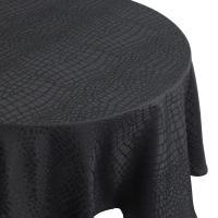 Nappe ovale 180x300 cm Jacquard 100% polyester LOUNGE noir