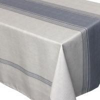 Nappe rectangle 150x250 cm imprimée 100% polyester BISTROT Gris