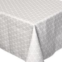 Nappe rectangle 150x300 cm imprimée 100% polyester PACO géométrique gris