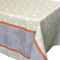 Nappe rectangle 150x350 cm imprimée 100% polyester GARRIGUE Florale ecru