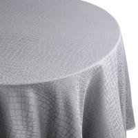 Nappe ronde 180 cm Jacquard 100% polyester LOUNGE perle