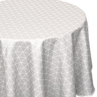 Nappe ronde 180 cm imprimée 100% polyester PACO géométrique
