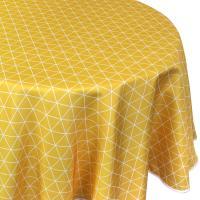 Nappe ovale 180x240 cm imprimée 100% polyester PACO géométrique jaune Maïs