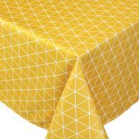 Nappe rectangle 150x350 cm imprimée 100% polyester PACO géométrique jaune Maïs