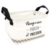Panier de rangement 4L blanc avec anses Ranger avec passion