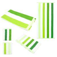 Parure de bain 5 pièces CLASSIC STRIPES Vert 480 g/m2