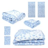 Parure de bain 7 pièces 100% coton 520 g/m2 FACILE Bleu