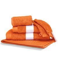 Parure de bain 6 pièces PURE Orange 550 g/m2