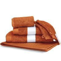 Parure de bain 6 pièces PURE Orange Safran 550 g/m2