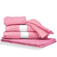 Parure de bain 6 pièces PURE Rose Bonbon 550 g/m2