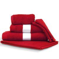 Parure de bain 6 pièces PURE Rouge 550 g/m2