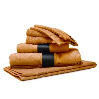 Parure de bain 7 pièces ROYAL CRESENT Miel 650 g/m2