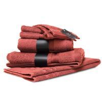 Parure de bain 7 pièces ROYAL CRESENT Rouge Terre Cuite 650 g/m2